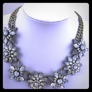 Bauble Bar Necklace Frosted Ice Blue Crystal